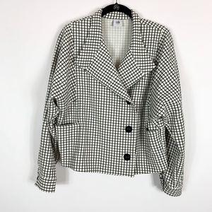 Cabi Blazer Jacket Size Small Mini Windowpane Chec